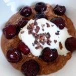 cherry ripe chocolate porridge