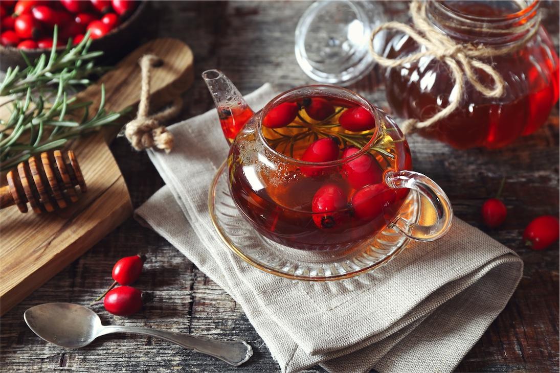 rose hip tea for Vitamin C