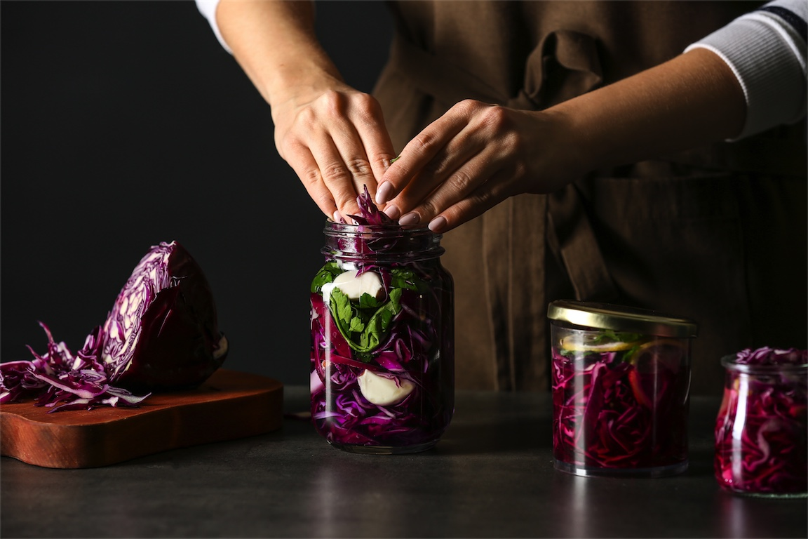 red cabbage fermented vegetables