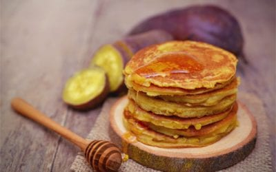 Sweet potato and cinnamon pancakes